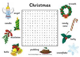 Small Picture Christmas Word Searches