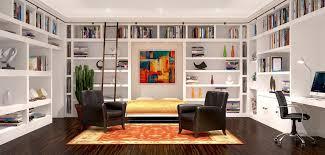 murphy bed in office. Loft Office Rendering Modern With Custom Murphy Bed In