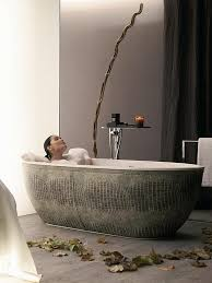 view in gallery the freestanding tub truly brings home a spa like aura