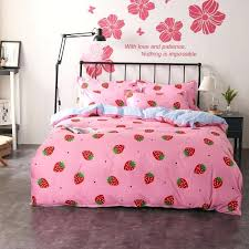 cinderella bedding set full girls princess bedding sets duvet covers set pink strawberry plaid flat bed sheet twin full queen king size bedclothes black and
