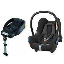 maxi cosi cabriofix group 0 car seat bundle with base black raven new