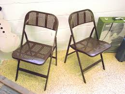 vintage metal folding chairs. Wonderful Chairs Vintage Industrial Lyon Metal Company Late 40s Decorative Folding  Chairs Inside A