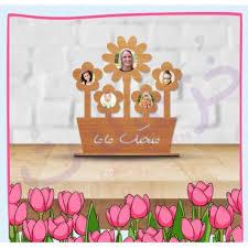we love you mom flower frame