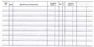 Check Ledger Blank Check Book Check Register For Checkbook Savebtsaco Gratulfata