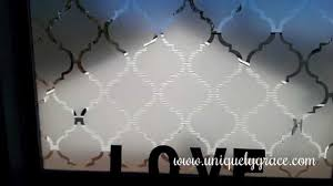 Frosted Glass Designs Window Treatment Under 10 Faux Frosted Glass Tutorial Moroccan
