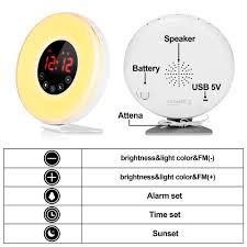 Totobay Wake Up Light Uk Alarm Clock Totobay Wake Up Light Electronic Alarm Clock