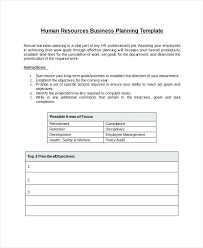 Hr Work Plan Template Sample 9 Documents In Word Action Excel