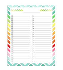 Grocery List Free Printable Template Checklist To Do Thaimail Co