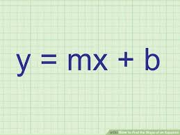 image titled find the slope of an equation step 1