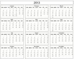 Monthly Calendar 2013 Free Printable 2013 Monthly Calendars 2013 Printable