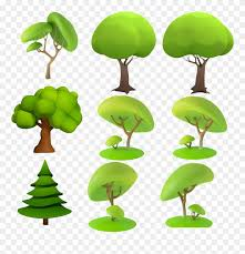 Dimensional Space Animation Tree Cartoon D Trees 3d Model