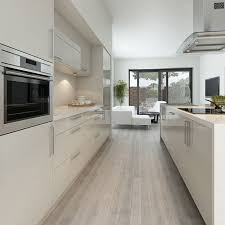 White kitchen light wood floor Beach Style Shiny Kitchen Floor Tiles Light Wooden Floor White High Gloss Kitchen Cabinets Instahelp Kitchen Shiny Kitchen Floor Tiles Light Wooden Floor White High Gloss