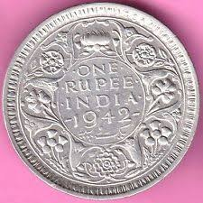 1942 Half Dollar Value Chart British India 1942 Bombay Mint One Rupee King George Vi