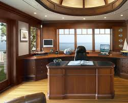 home office office wall. Ideas For Home Office. Interior Design:decorations Fantastic Wooden Office Desk Near Book Wall
