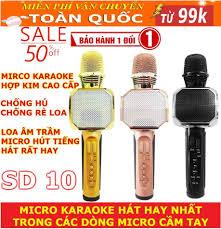 Mua Micro Karaoke, Micro Bluetooth Không Dây Giảm 50%, Micro Bluetooth  Karaoke SD 10, Loa Cầm Tay Hát Karaoke Giá Rẻ, Bán Mic Karaoke Kèm Loa  Bluetooth Bảo Hành Toàn Quốc
