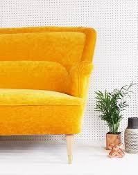 Image Ideas Vintage Original 1950s Sofa In Dandelion Yellow Velvet Galapagos Furniture Vintage Original 1950s Sofa In Dandelion Yellow Velvet Galapagos