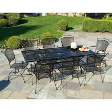 wrought iron outdoor dining set furniture classic look of wrought iron patio dining set large black