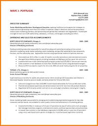8 Summary Resume Example Quit Job Letter