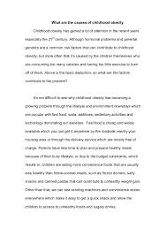 essay children obesity causes of childhood obesity essays