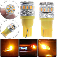 Bright Yellow Led Lights Details About 2pcs Super Bright Yellow T10 18 Smd 3014 Led 194 168 2825 W5w Car Lights Bulb Us