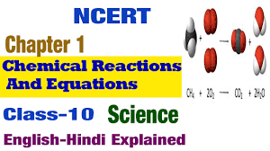chemical reactions and equations in hindi science class 10 ncert cbse