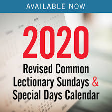 Sundays Only Calendar 2020 Revised Common Lectionary Sundays Special Days Only
