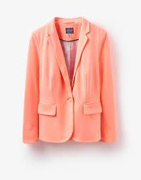 Light Orange Blazer Mollie Fluoro Orange Soft Jersey Blazer Blazer Blazer