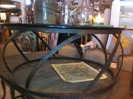coffee table round metal gl tables ba