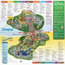 a map of disney's twin parks disneyland and california adventure