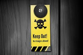 creative door hangers. Keep Out! Creative Door Hangers A