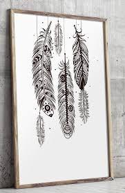 bohemian wall art feather wall art bohemian decor printable art feather wall decor