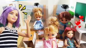 バービー 人形おもちゃ 学校でミキちゃんマキちゃん ごっこ遊び ヘア