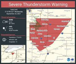 issues severe thunderstorm warning ...