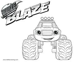 Coloring Pages Blaze And The Monster Machines Coloring Pages To