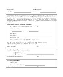 Parent Teacher Conference Form Template Parent Teacher Conference Checklist Template