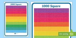 Free 1000 Number Square Numbers Number Squares