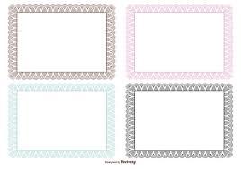 diploma border template guilloche certificate borders download free vector art stock