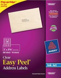 Avery Matte Clear Address Labels Sure Feed Technology