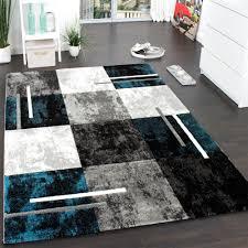 designer rug contour cut geometric marble look grey turquoise