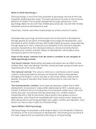 lifespan psychology topics psychology life span developmental what is child psychology txt scribd com