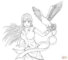 Small Picture Inoue Orihime from Anime Bleach coloring page Free Printable