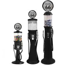 route 66 gravity feed visible gas pump gumball machine replica