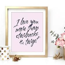 on rose gold wall art quotes with starbucks and target love inspirational black and white wall art
