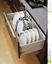 Kitchen Drawer Kitchen Drawer With Plates Royalty Free Stock Image Image 24800436