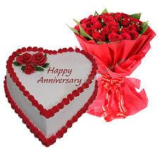 Anniversary Cake With 10 Roses In Faridabad Faridabadcake