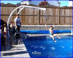 above ground pool slide. Inground Pool Slides New Slide N Glide Swimming Above Ground Deck Zip Line Garden Buy