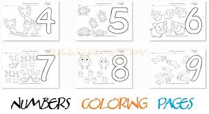 Flash cards to learn numbers. Numbers Coloring Pages Printable Worksheets