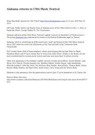 Usa Today Country Chart Alabama Returns To Cma Music Festival