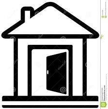 house door clipart. House With Open Door Clipart