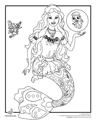 Small Picture Barbie Mermaidia Coloring Page Woo Jr Kids Activities